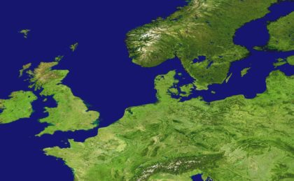 satellite photo of islands